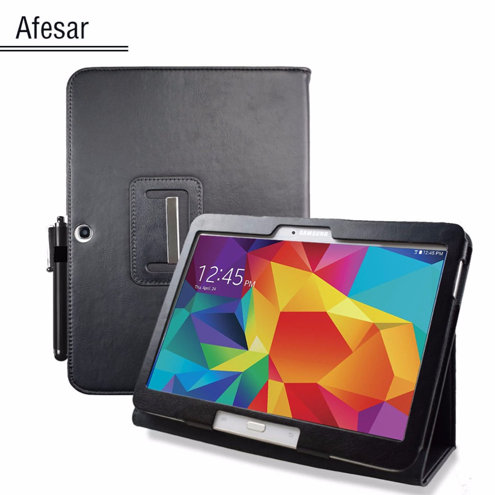 Flip Back Stand Cover Case For Samsung GALAXY TAB 4 10.1 tablet Case pocket SM T530 T531 pu leather cover pouch with auto sleep