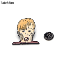 Patchfan Home Alone Macaulay Culkin Enamel Pins clothes metal Gift para bag hat backpack insignia Brooches Badges for men A1583