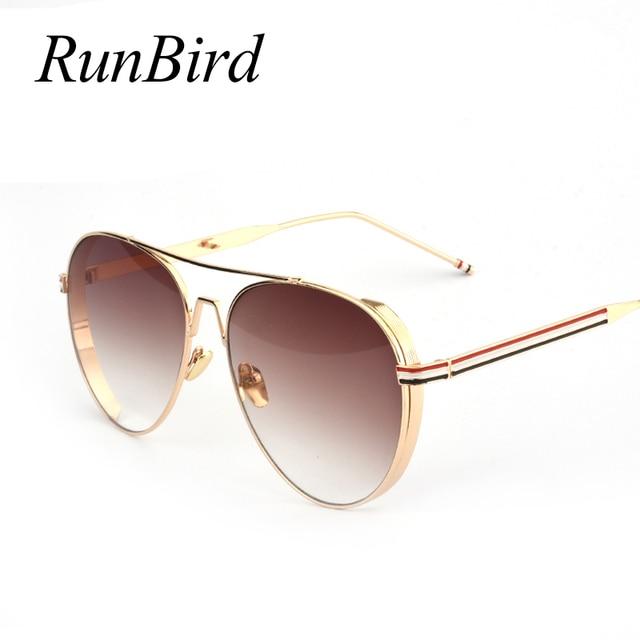 2061fae1f Homens Óculos De Sol Designer De Revestimento Das Mulheres Clássicas  RunBird Lente Do Vintage Óculos Grandes