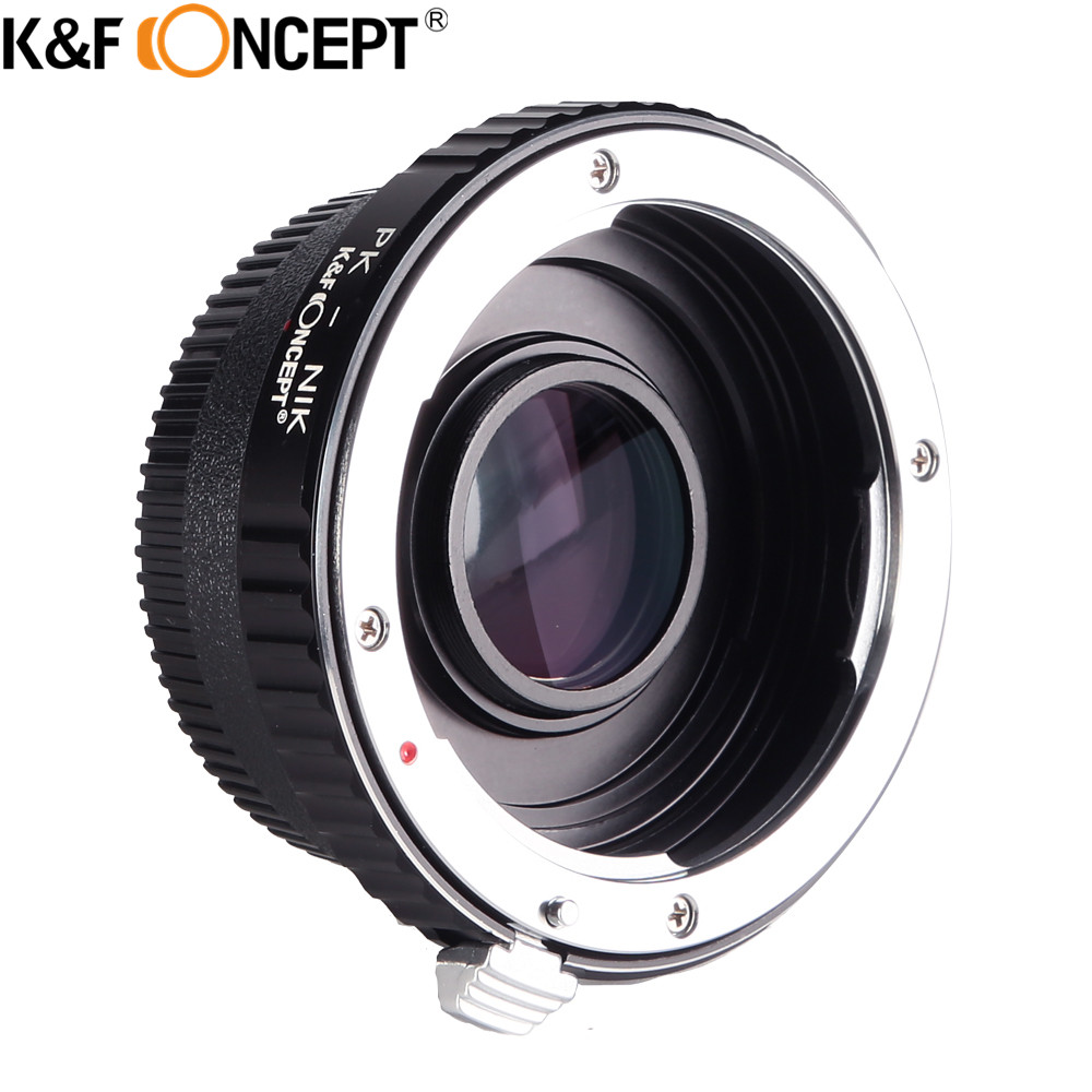 K&F CONCEPT For PK-AI(With Optic Glass) Camera Lens Mount Adapter Ring for PENTAX PK Lens to for Nikon AI F D90 D300 D700 D7000 fotga pk eosm pentax pk lens to canon m mount adapter black silver