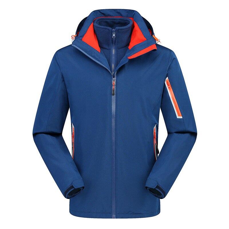 Veste d'extérieur homme hiver chasse coupe-vent Ski manteau randonnée pluie Camping pêche vêtements Sport vestes hommes manteau 2 en 1