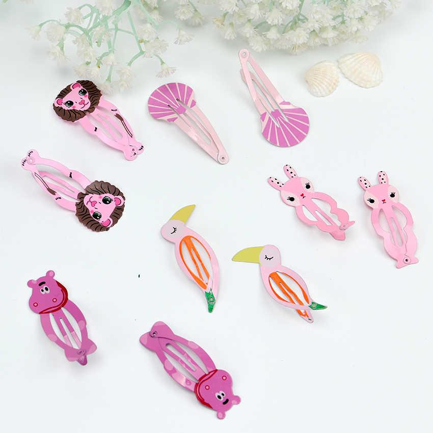 12 Uds. De moda Niña frutas horquilla de animales sombreros niños Barrettes pinzas para el cabello joyas Clips de presión Niños Accesorios para el cabello
