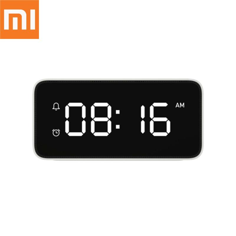 Original Xiao mi intelligent réveil à diffusion vocale ABS Table Dersktop horloges calibrage automatique mi accueil App contrôle