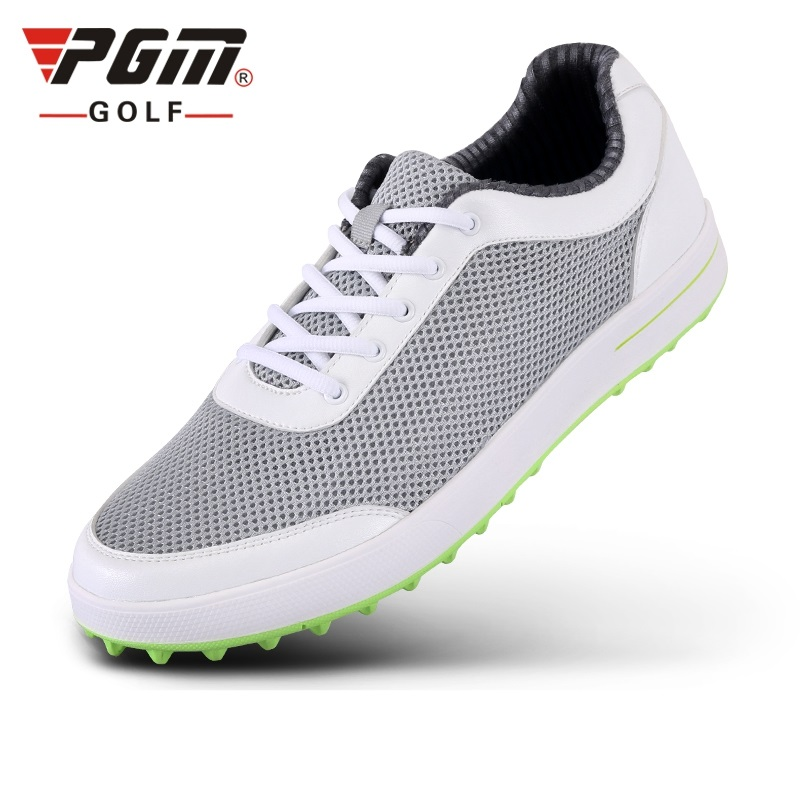 Brand PGM Mens Golf Sports Air Mesh Shoes Spikeless and Waterproof and Breathable and Light Weight Golf Sneakers XZ079 brand pgm adult mens golf sports shoes anti sideslip technology and waterproof and breathable and light weight golf sneakers