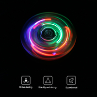 Crystal Fidget Spinner LED Clear Flash Light EDC Finger Tri Spinner For Autism ADHD Anxiety Stress