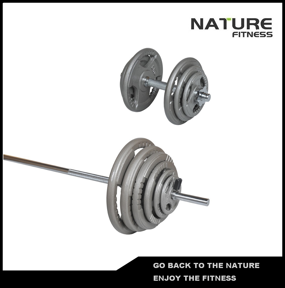 115kgAdjustable Standard Hammertone Barbell and Dumbbell Weight Plates Set Fitness Equipment for Weightlifting Strength Training