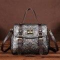 Bolsas de luxo Mulheres Sacos De Designer De Marca Famosa saco do Mensageiro Sacos de Ombro Das Senhoras da Cópia Floral Moda Genuína Bolsas De Couro Pequena