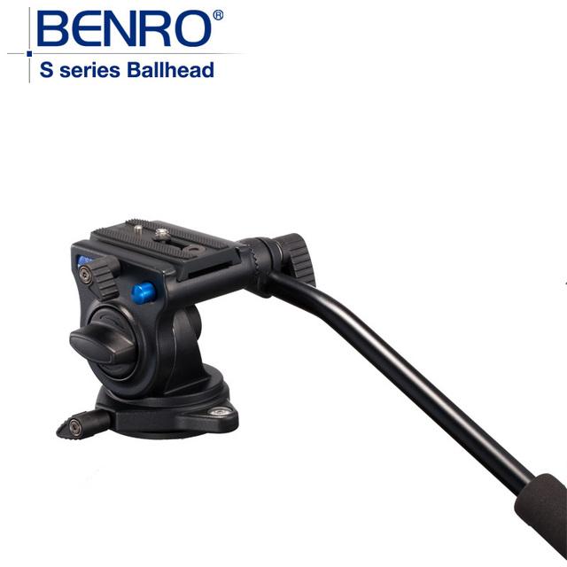 Benro S2 Pro Cabezales de Vídeo De Aluminio Hidráulico Cabeza De Vídeo trípode PLACA QR4 Quick Release Sistema de Carga Máxima 2.5 kg de DHL Libre gratis