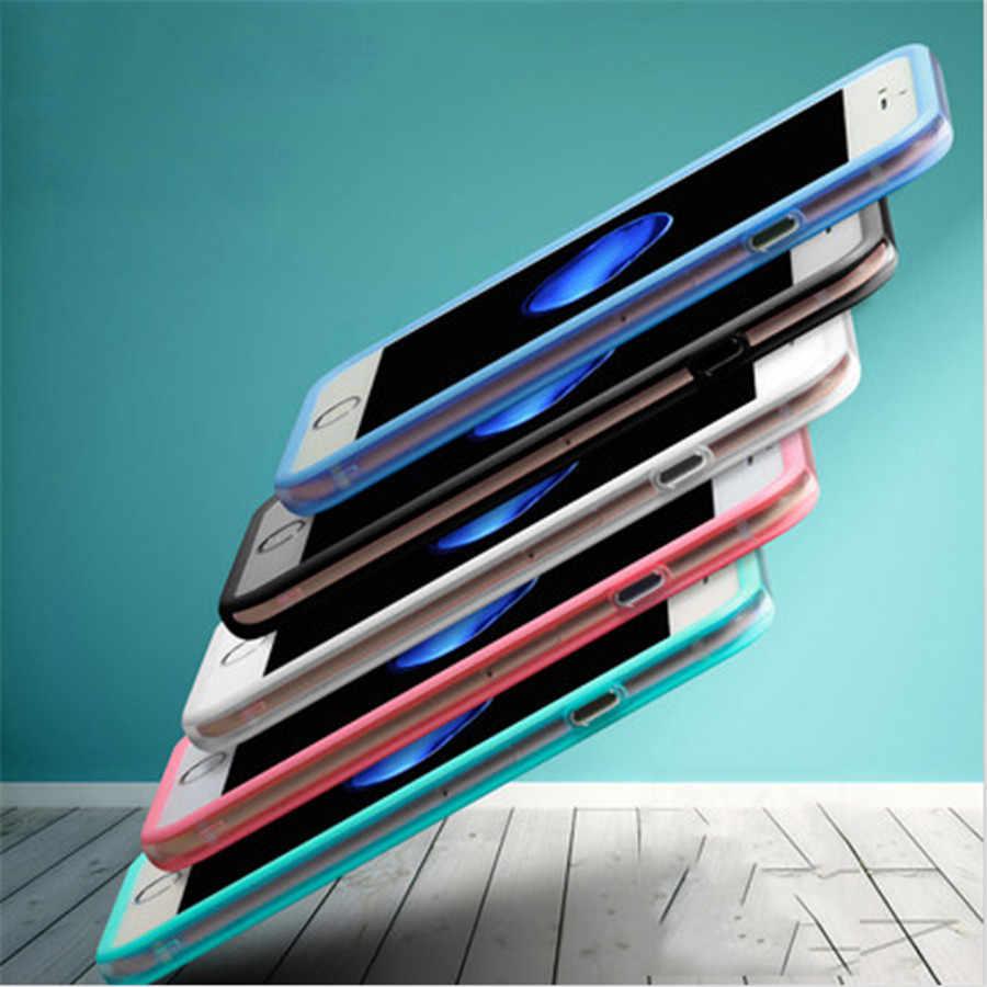 ソフトpc +シリコンバンパーフレームケースカバークリアサイド保護用iphone x 8 7 7プラス6 6 s 5 5 s seケースiphone用6 6 s 8プラス