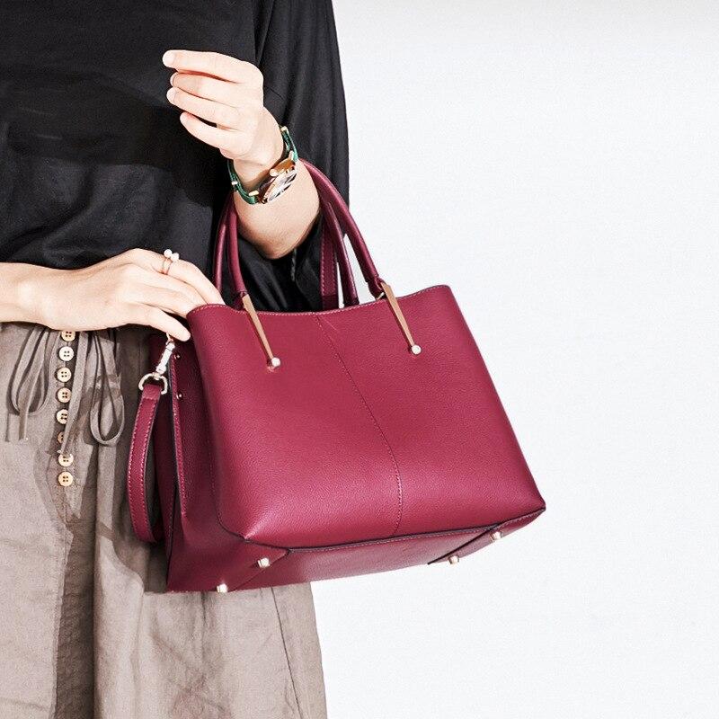 Luxury Brand Woman Handbags Designer Real 100% Genuine Leather Bags For Women 2018 Shoulder Vintage Female Messenger Bags N425