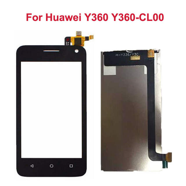 US $15 6 17% OFF|Black LCD Display Panel Screen For Huawei Y360 Y360 CL00  +Touch Screen Digitizer Glass Sensor Assembly Replacement -in Mobile Phone