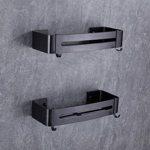 Image 4 - BVZ  Bathroom Shelf Space Aluminum Black bathroom Accessories shower basket corner Shelves  Kitchen storage Bath Shampoo Holder