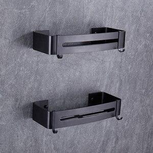 Image 4 - BVZ półka łazienkowa przestrzeń aluminiowa czarna akcesoria łazienkowe koszyk pod prysznic półki narożne przechowywanie w kuchni uchwyt na szampon do kąpieli