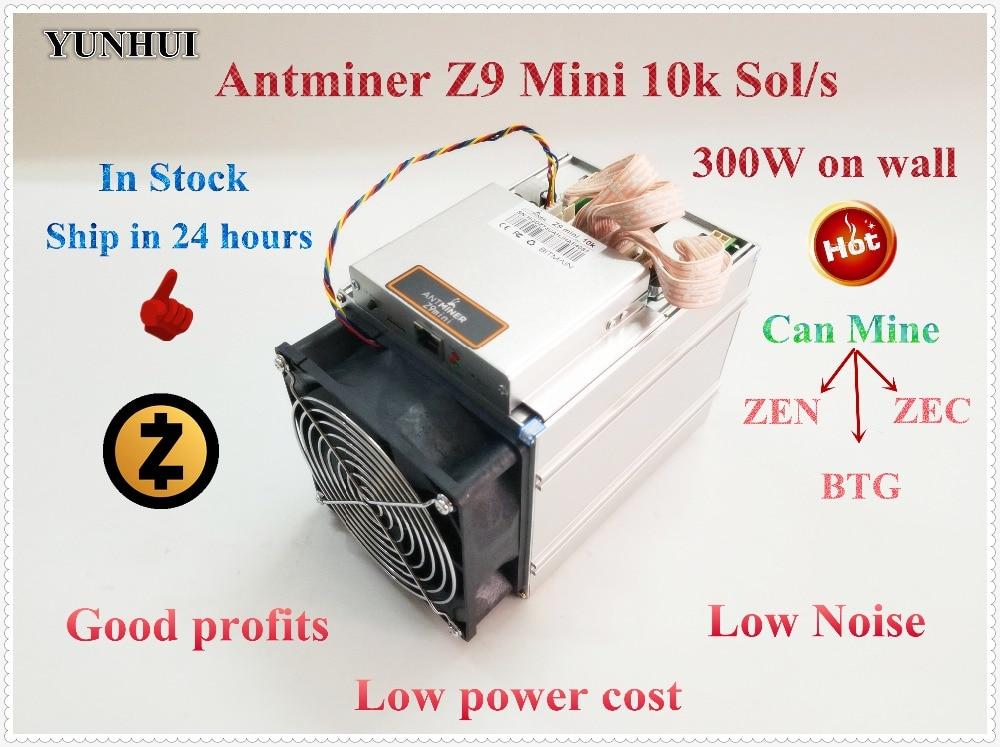 Usado ZCASH Mineiro BITMAIN Antminer Z9 Mini 10 k Sol/s Equihash ZEN ZEC BTG Miner Better Than S9 s11 S15 A9 Z9 Navio em 24 horas