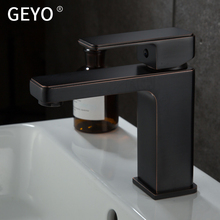 GEYO Black Kitchen Antique Copper Bathroom Faucets Basin Brass OilRubbed Bronze Faucet Shower Hot Cold MixerTap