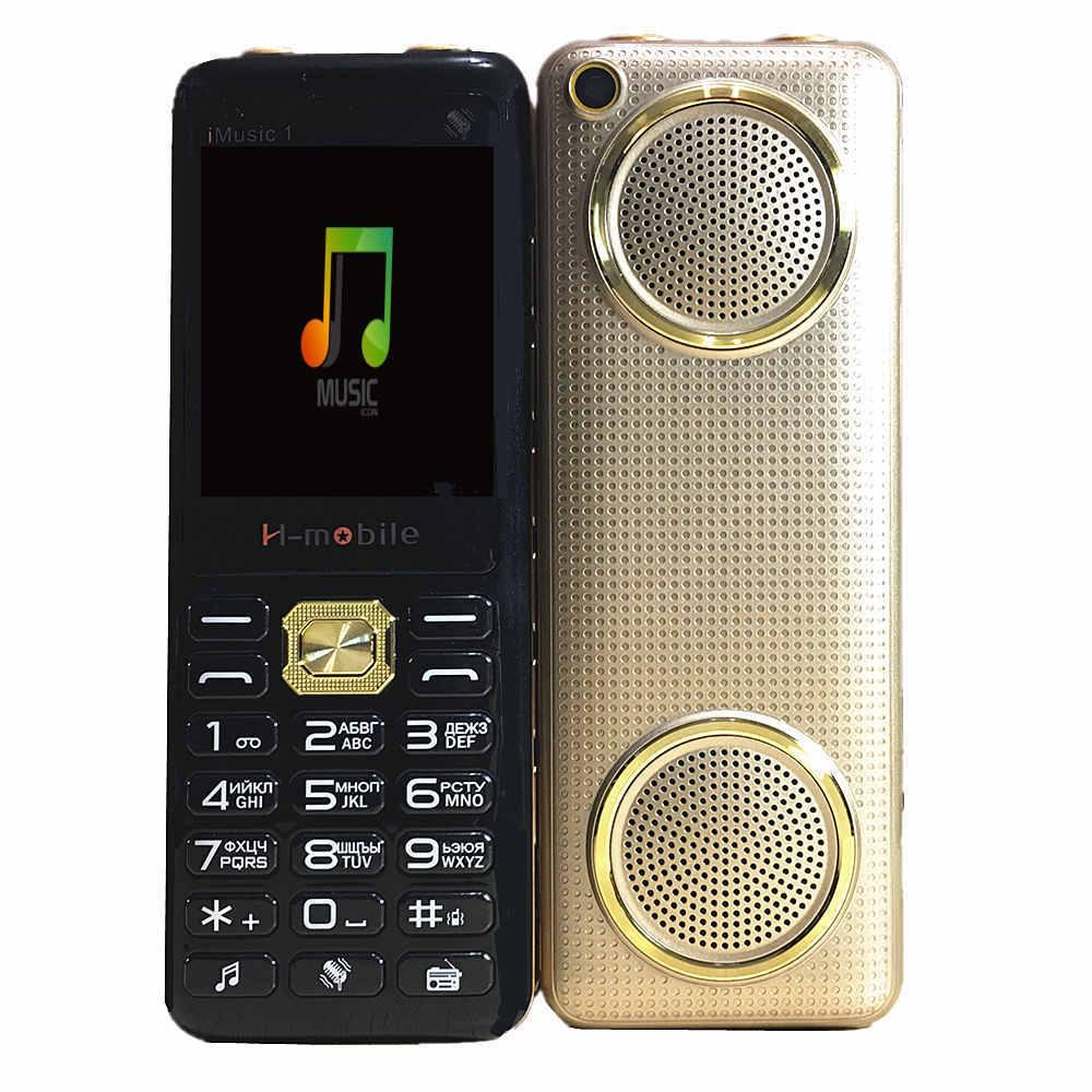 2018 nuevo Super Grande música dual altavoz grande del teléfono móvil de lujo teléfono sonido fuerte energía espera tres SIM H -móvil iMusic1