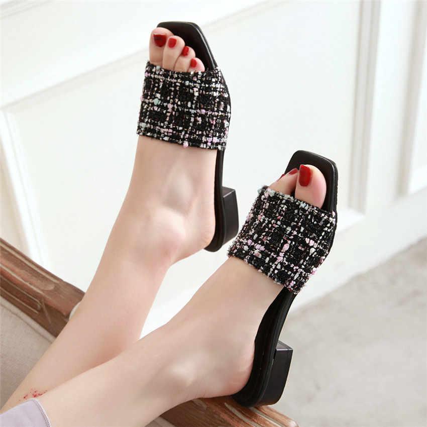 Kadın Düşük Topuk Sandalet Ayakkabı Kadın Terlik Arkası Açık Iskarpin Gladyatör Sandalet Küçük Artı Boyutu 32 33-40 41 42 43 44 45 46 47 48 49 50