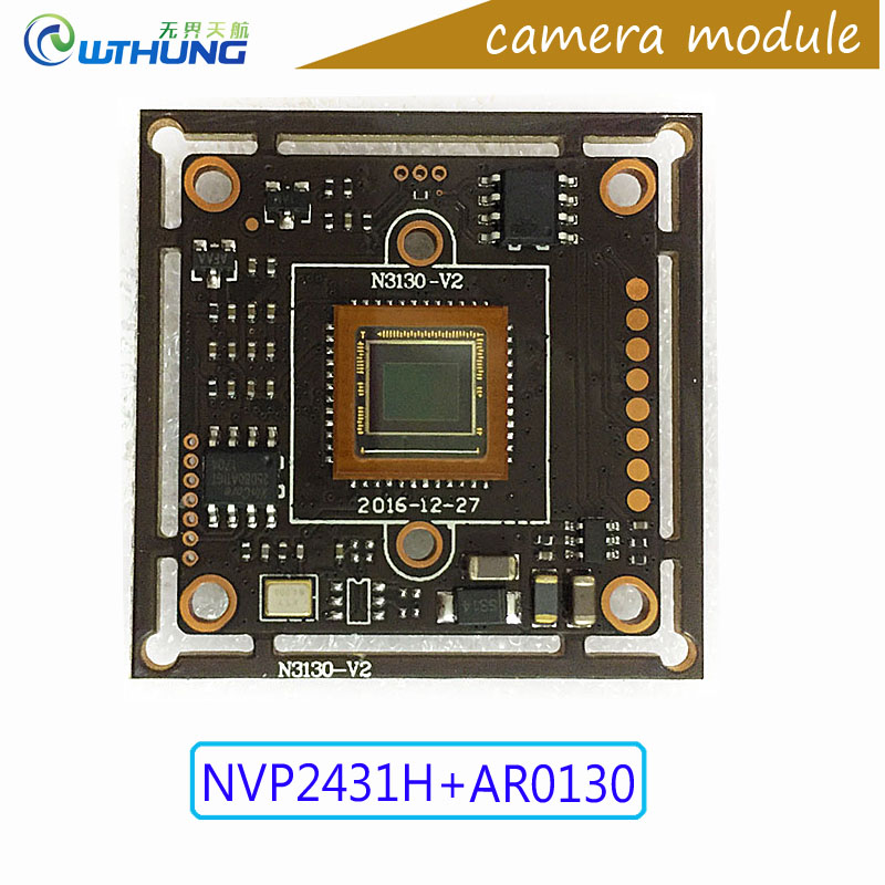 AHD Camera module 1/3 Aptina CMOS AR0130 sensor + NVP2431 board+IR cut+Lens+wire support IR cut night vision for cctv camera