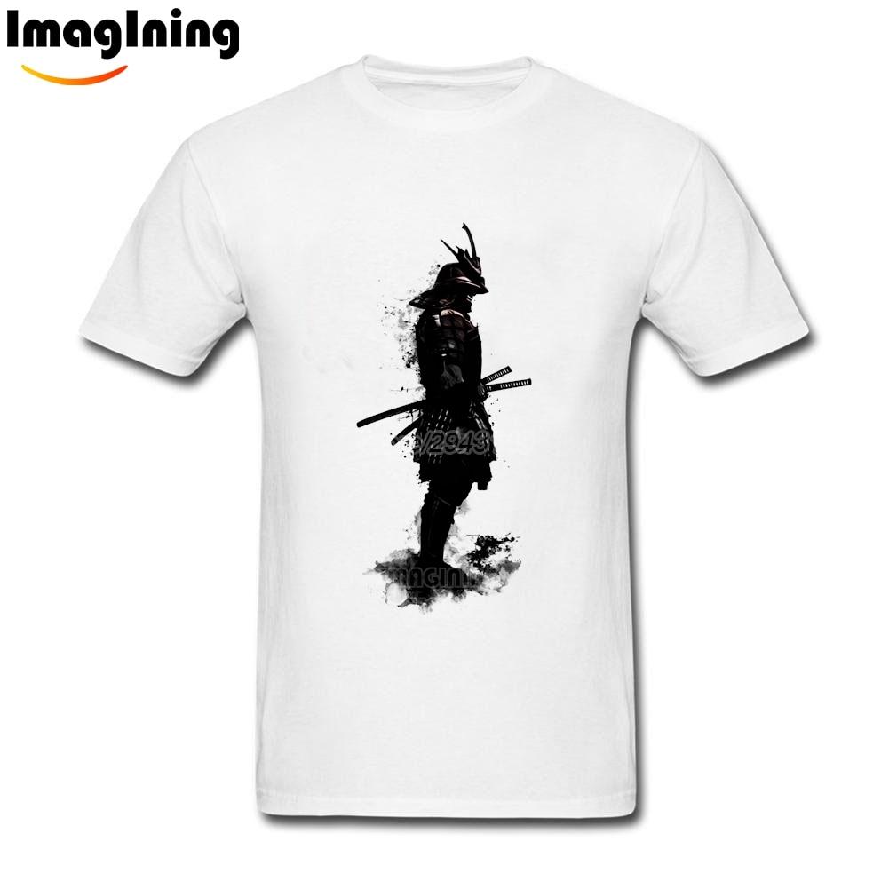 T shirt japanese design - 2017 Tops Design 3d Print Japanese Armored Samurai Custom Tee Shirt 3xl Men Cool T Shirt