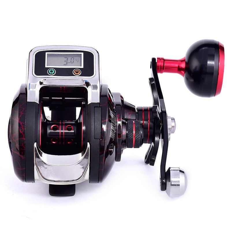 2019 nouvelle bobine Baitcasting avec ligne compteur bobine pêche 14 + 1 BB roulement à billes appât coulée 6.3: 1 roue de bobines de pêche à sens unique