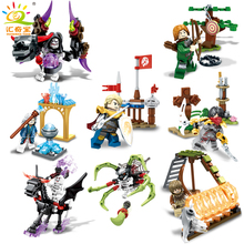 Knight Devil Soldiers Figures Weapons Ghost Tribes Building Blocks Sets Compatible Legoed Skeleton Educational Toys For