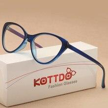 060486ed9e0aa0 KOTTDO 2018 fashion Vintage Cat Eye Bril Frame Brillen Vrouwen Leesbril  Optische Bril voor Unisex Eyewear UV400