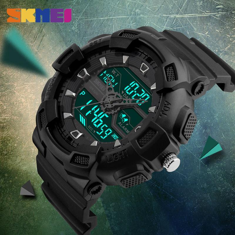 Skmei hombres relojes deportivos al aire libre cronógrafo de moda - Relojes para hombres - foto 6