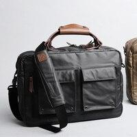 D park 14/15 inch Portable KUMON Laptop Briefcase Handbags Rubberized canvas Crossbody Bags Messenger Bags for MacBook Cases