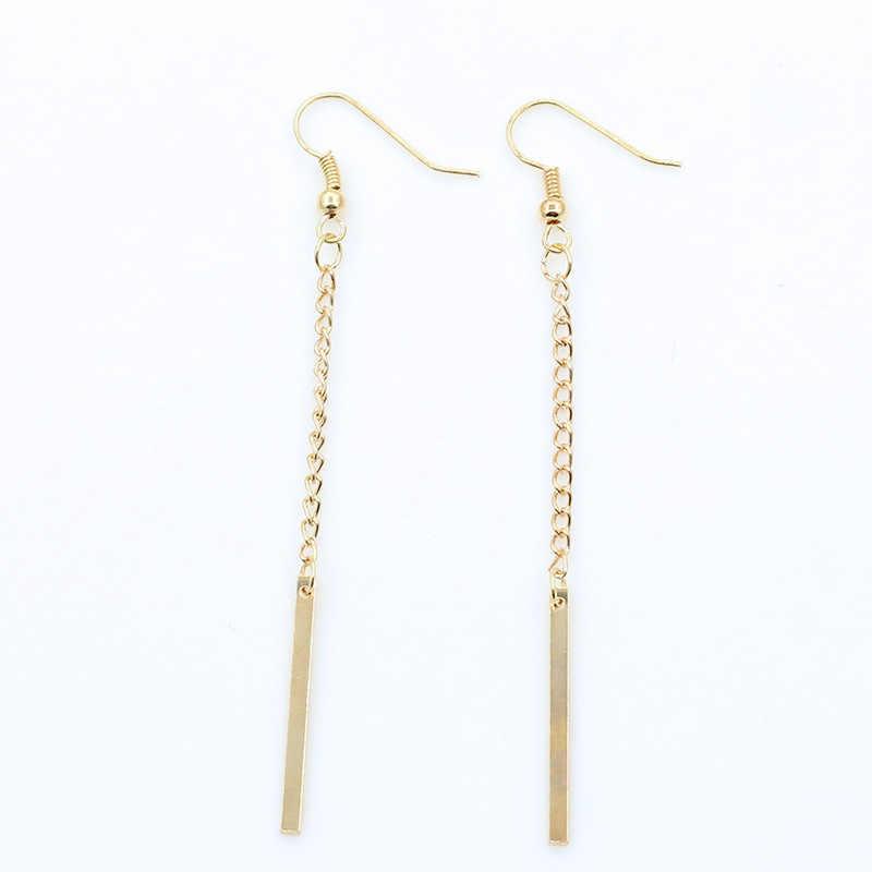 ES911 Women Dangle Drop Earrings Long Earing Fashion Jewelry Brincos Female European Style HOT Sale 2018