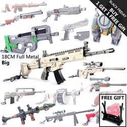 Детские Рождественские подарки игрушечные лошадки игры Fortnight битва Royale фигурку пистолет сплав для модели книги об оружии FORTNIGHT брелок