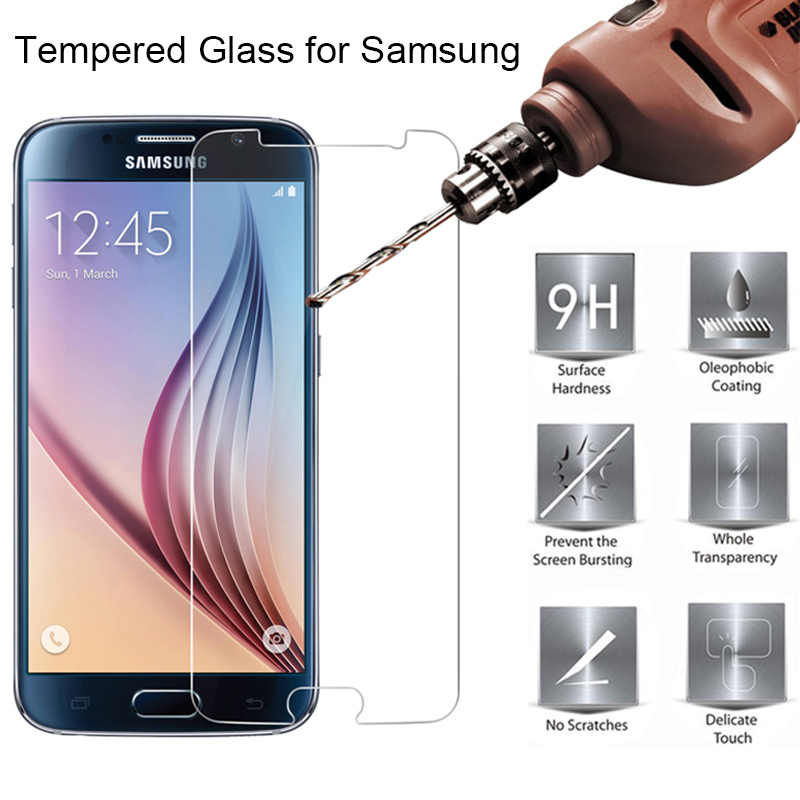 Tempered Glass 9H HD Protective Glass for Samsung J8 J7 J6 J4 Plus J3 Toughed Screen Protector on Galaxy Note 7 5 4 3 2