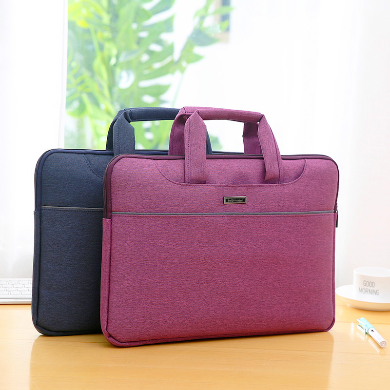 Handle Briefcase flax Fabric Office School Meetting Document Expanding Storage Organizer Holder A4 File Folder Case Supplies