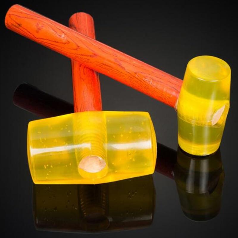 Martelo de Borracha Alça de Madeira Tendão para o Reparo do Agregado Multifuncional Martelo Familiar Ferramentas Manuais 1 Pçs 120mm