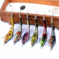 6Pcs/Lot Set Painting Minnow 9.5cm/8.9g Fishing Lure Kit Crankbait Hard Bait Artificial Isca Wobbler Sea Bass Carp Fishing