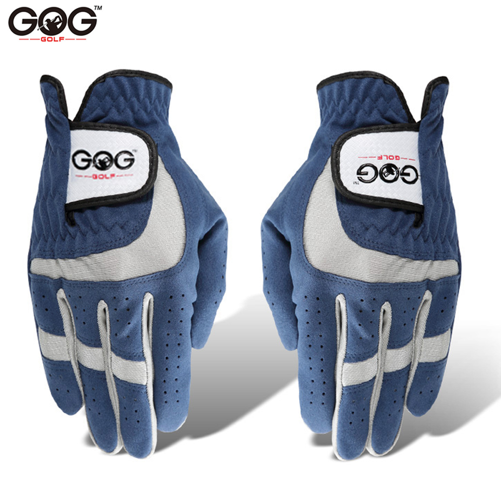 GOG Golf Gloves for men women Breathable Soft Fabric Microfiber Sports Glove Left Right Hand Blue mens hold 1 pcs pair 2 3 4 5 r 1 pair left