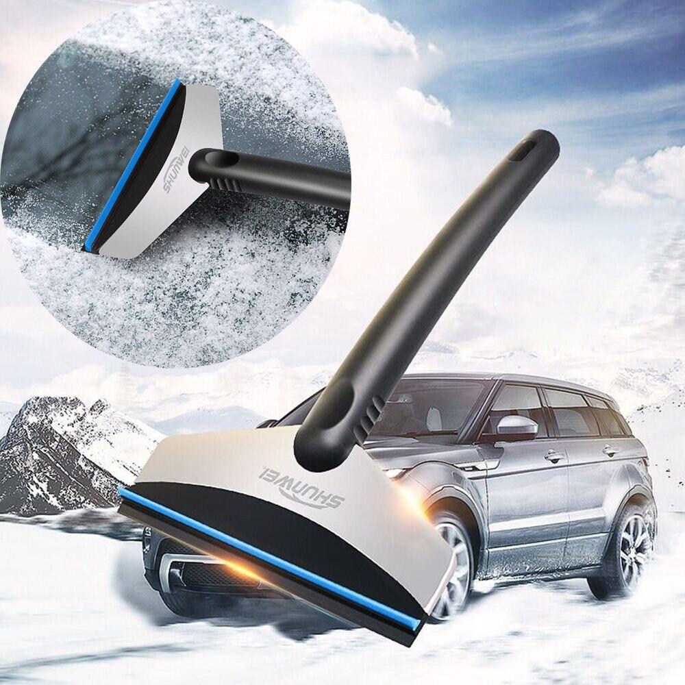 Auto Portatile Mini Ghiaccio Neve Raschietto Pala Pulita Strumento Auto Accessori Auto con Caldo Antigelo Gloves