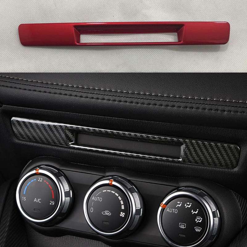 For Mazda CX3 2016 2017 2018 Center Console Carbon Fibre Liquid Crystal Screen Trim Strip CX