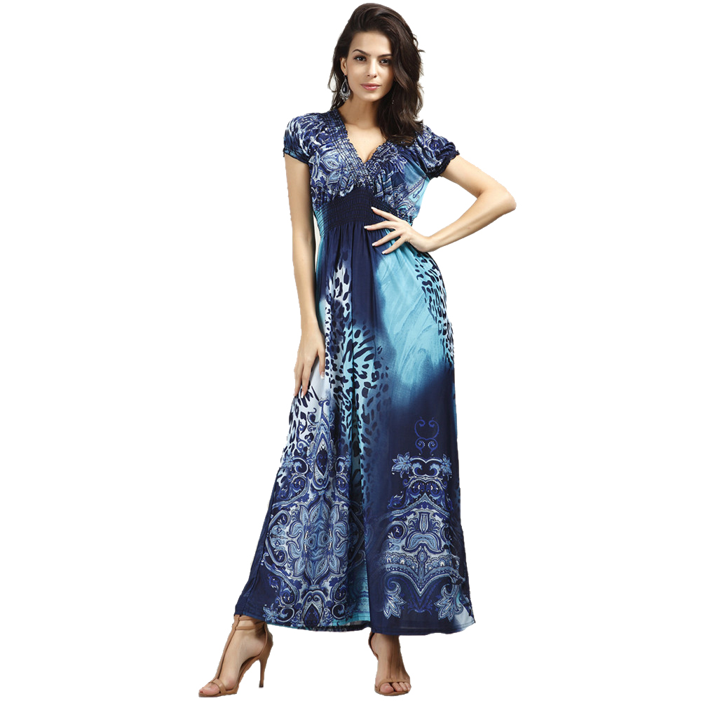 Buy Bohemian Summer Dress Sexy Spring Fashion Women Maxi Dress Long Beach Robe