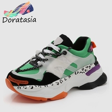 DORATASIA 2019 New INS Hot Bright Colors Sneakers Women Autumn Fashion Girl Tennis Shoes Casual Flats Woman
