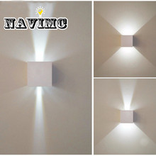 7w LED Wall Light Outdoor Waterproof IP65 Modern Nordic style Indoor Wall Lamps Living Room Porch Garden Lamp AC90-260V