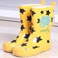 Nova moda Meninas crianças botas sapatos rainboots gato dos desenhos animados rainboots Botas de Chuva da moda Para As Meninas Babys Sapatos de Borracha