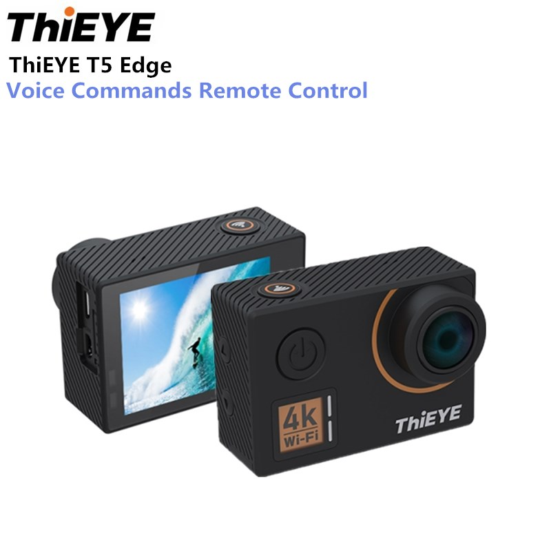 ThiEYE T5 borde Cámara de Acción 14MP nativa 4 K WiFi 2 pulgadas pantalla LCD TFT de 1080 p deportes comandos de voz Control remoto Ambarella A12