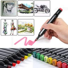 Random Color Penholder Grease Painting Markers DIY Card Gift Photo Album Mark Double Point Painting Marker Pen for Kids(China)