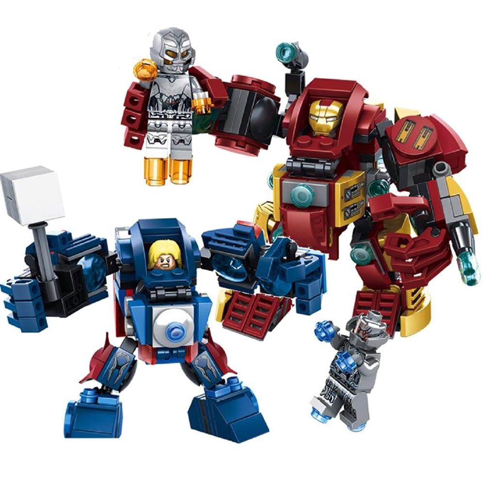 The HulkBuster ThorBuster <font><b>Avengers</b></font> 2 <font><b>Ultron</b></font> VS <font><b>Iron</b></font> <font><b>Man</b></font> Thor <font><b>Marvel</b></font> Set Building Bricks Blocks Toy Lepin