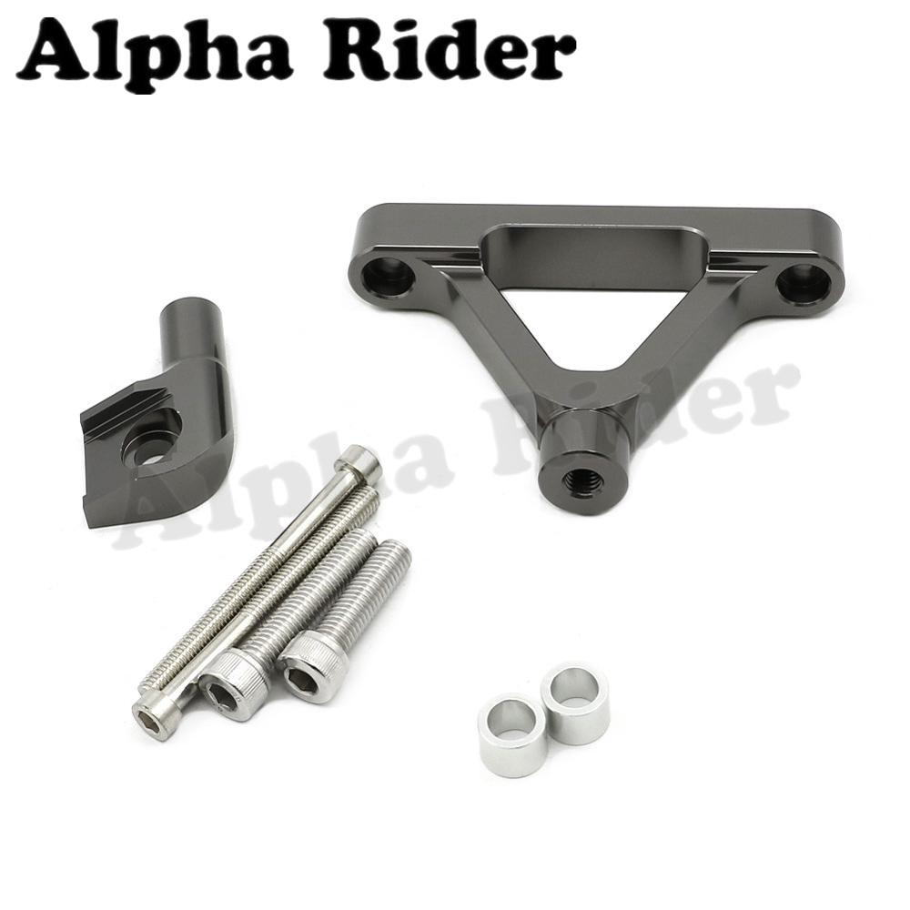 Titanium CNC Aluminum Direction Steering Damper Stabilizer Support Holder Bracket w/ Mounting for Kawasaki Ninja ZX6R 2007-2008 набор новогодних подвесных украшений феникс презент magic time 3 шт