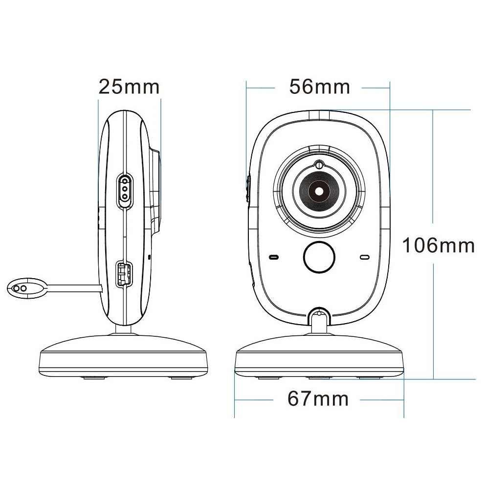 Cry детский видеомонитор няня 3,2 дюймов ЖК ИК ночного видения видеодомофон 8 устройство контроля температуры малыша панорамирование/наклон детская камера