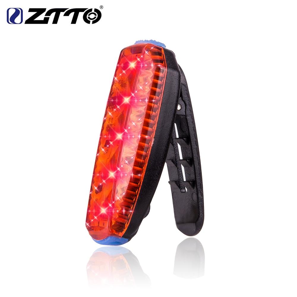 ZTTO USB ली-पो बैटरी बैटरी सड़क माउंटेन साइकिल बाइक क्लिप पनरोक सुरक्षा चेतावनी रियर टेल लाइट रनिंग लाइट WR03