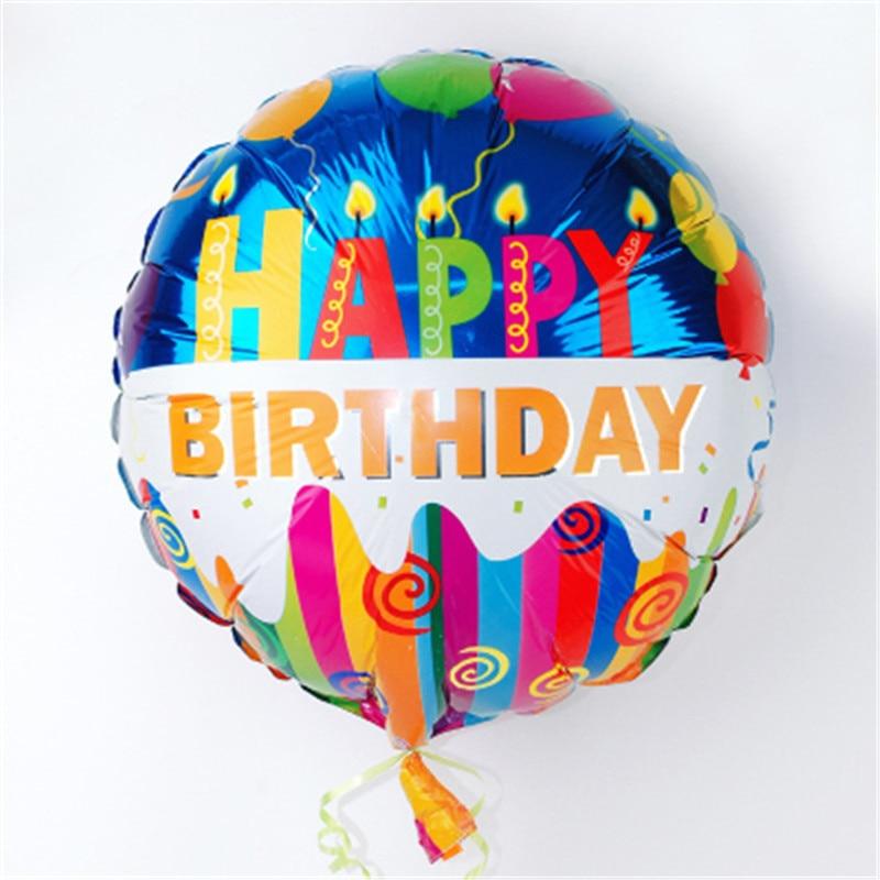 1pcs 18inch Birthday Balloons Foil Round Balloons Children Gift Birthday/Party/Wedding Celebration Decoration Balloons