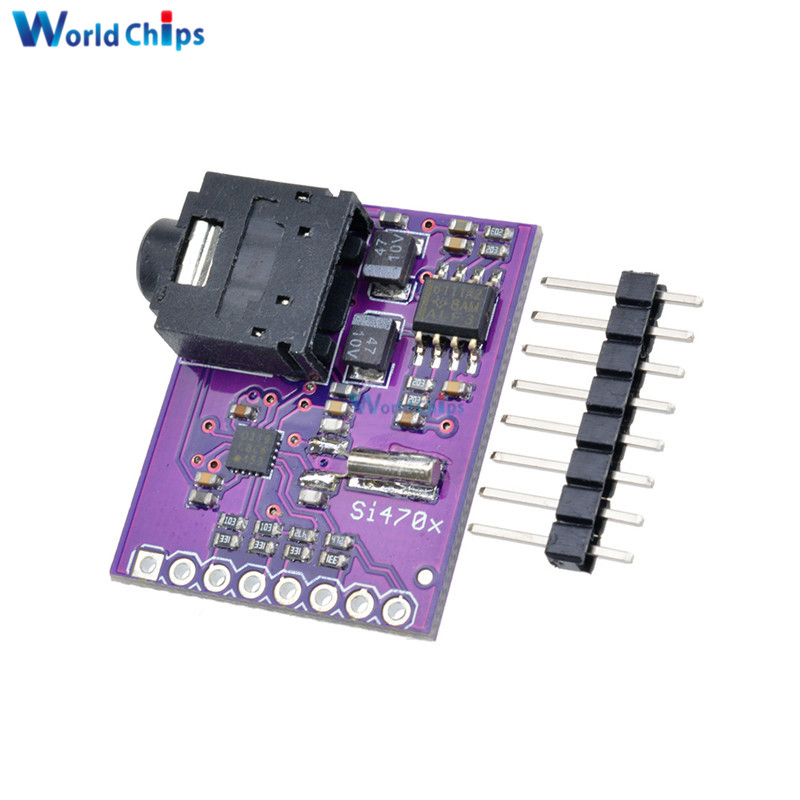 US $2 42 17% OFF|Si4703 FM RDS RBDS Tuner Breakout Board Digital Radio  Broadcast Data Processing Module For Arduino AVR ARM PIC With Pins-in