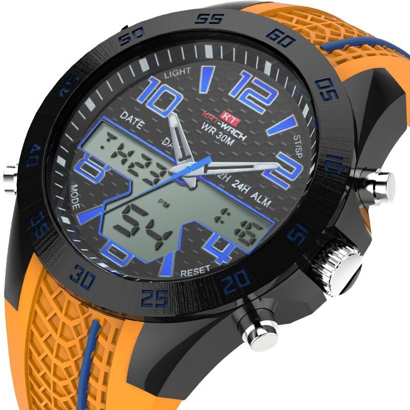 все цены на KAT-WACH Sport Watch Men Top Brand Luxury Waterproof Outdoor Silicone Quartz Digital Watch Male Clock Relogio Masculino Horloges